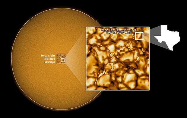 Zdjęcie powierzchni Słońca