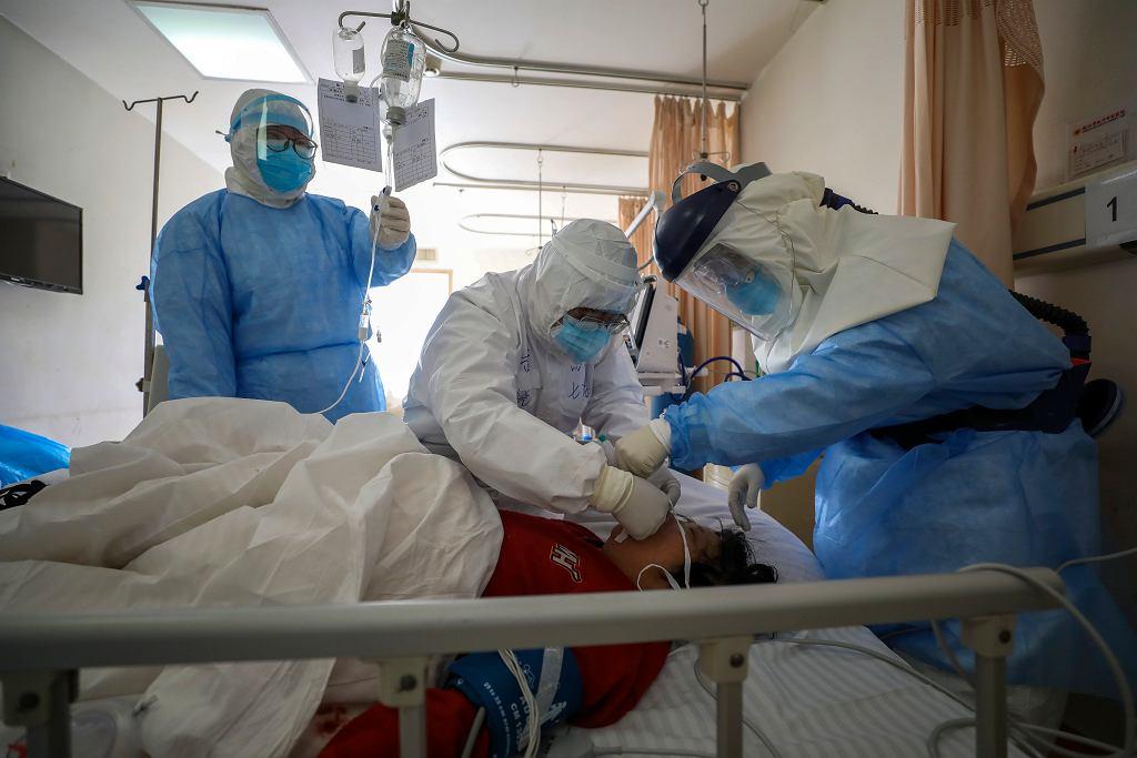Epidemia koronawirusa - szpital w Wuhan