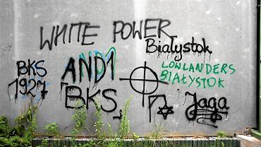 Rasistowskie bazgroły w Białymstoku