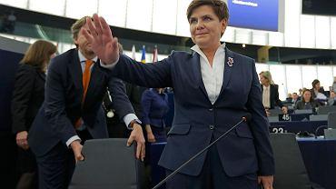 Beata Szydło podczas debaty o Polsce w Parlamencie Europejskim