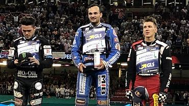 21 lipca 2018 r., runda Grand Prix w Cardiff: 1. Bartosz Zmarzlik, 2. Tai Woffinden, 3. Maciej Janowski