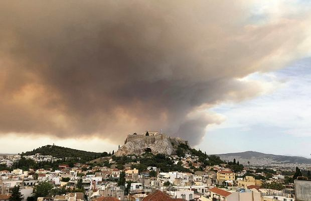 Pożary w Grecji. Liczba ofiar śmiertelnych ciągle rośnie