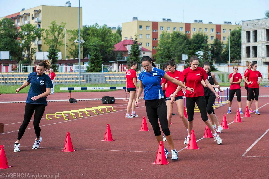 Trening siatkarek Developresu SkyRes Rzeszów na stadionie Resovii