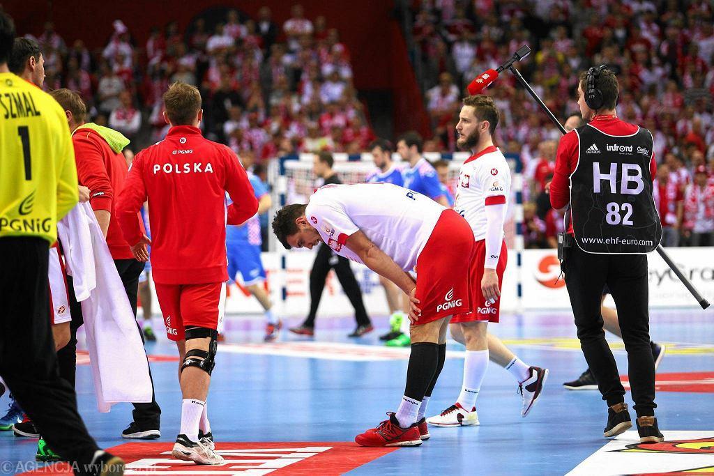 Załamany Michał Jurecki po meczu Polska - Chorwacja