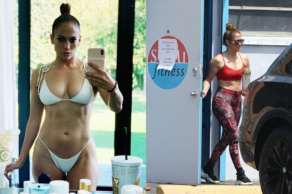 Jennifer Lopez na siłowni