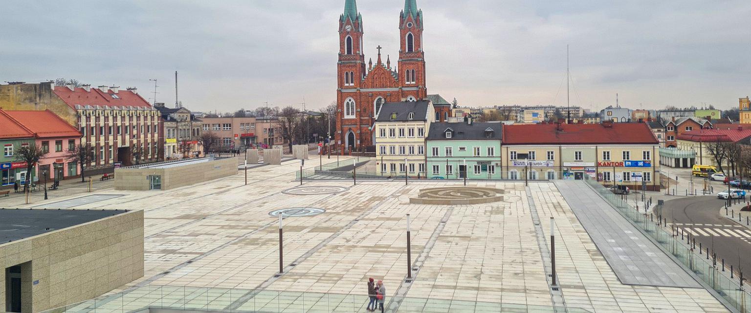 Kutno. Plac Wolności po modernizacji (UM Kutno)