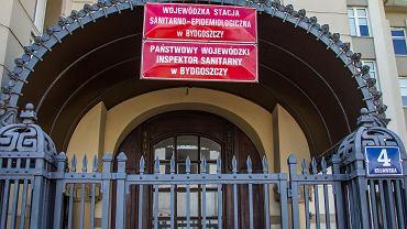 Bydgoszcz.Epidemia koronawirusa. Wojewodzka Stacja Sanitarno-Epidemiologiczna.