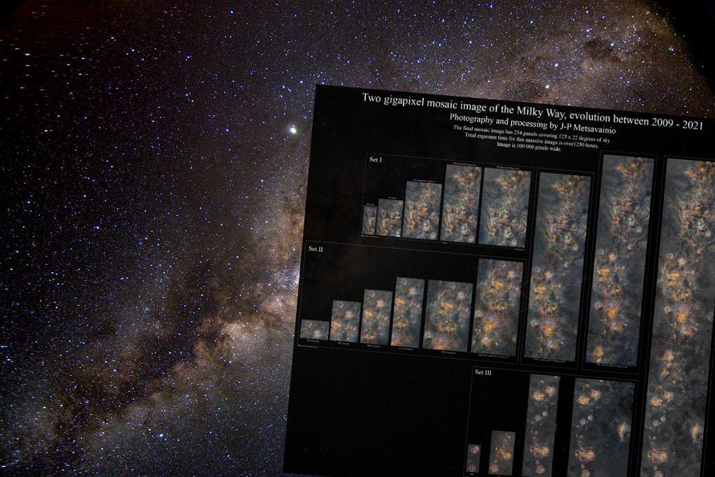 Droga Mleczna sfotografowana przez fińskiego astrofotografia. Zdjęcie powstawało 12 lat