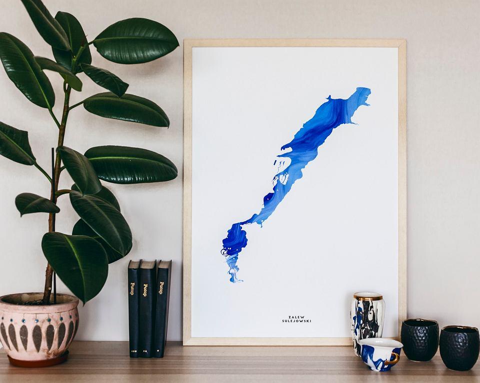 Plakat 'Zalew Sulejowski' z kolekcji plakatów Aqua Posters, Studio Warto