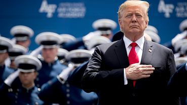 Donald Trump na Falcon Stadium w Colorado Springs, Colorado, 30 maja 2019