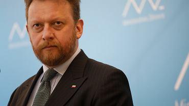 Minister Zdrowia w rządzie PiS Łukasz Szumowski podczas konferencji w resorcie. Warszawa, 30 marca 2020
