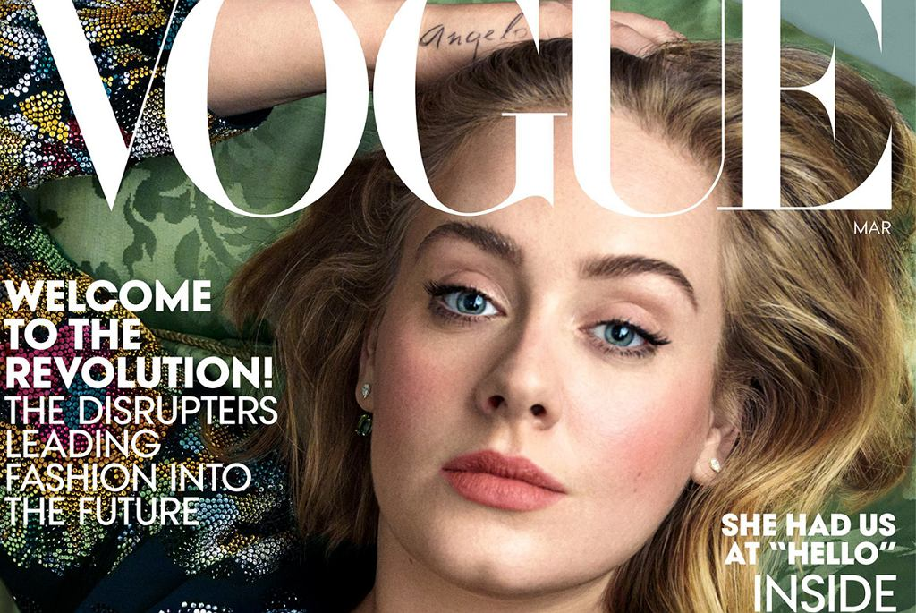 Adele, VOGUE US 2016