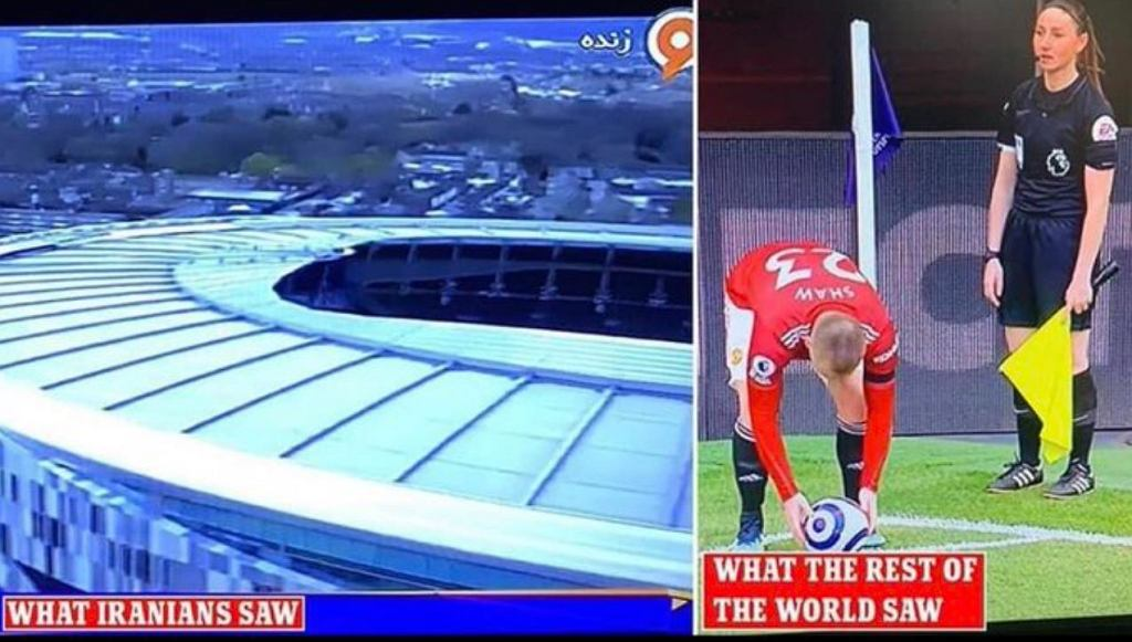Mecz Tottenhamu z Manchesterem United ocenzurowany w irańskiej telewizji. Powodem sędziująca kobieta