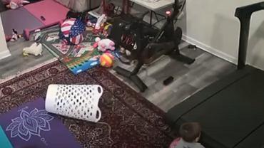 Niebezpieczna bieżnia dla dzieci