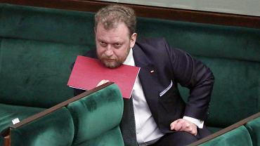 6.04.2020, minister zdrowia Łukasz Szumowski w Sejmie .