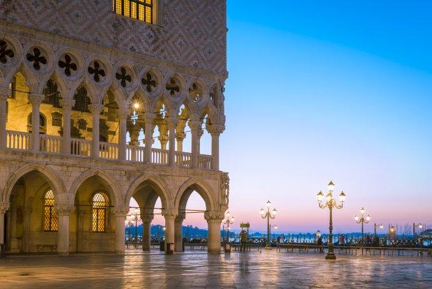 Wenecja - widok z placu św. Marka.