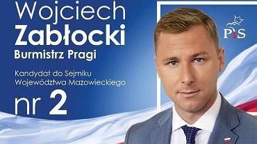 Plakat z kandydaturą Wojciecha Zabłockiego