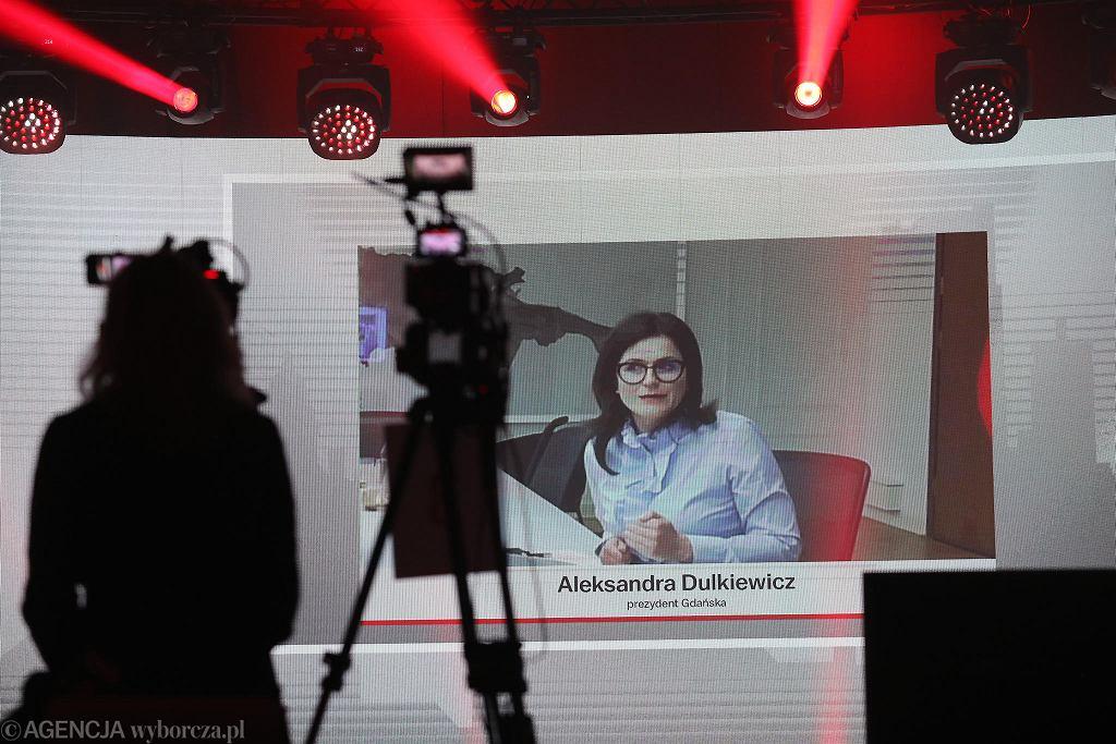 Aleksandra Dulkiewicz, prezydent Gdańska podczas debaty samorządowców na Gali Supermiasta