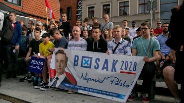 23.06.2020 Bydgoszcz . Wizyta kandydata na stanowisko prezydenta RP Krzysztofa Bosaka w ramach kampanii wyborczej .
