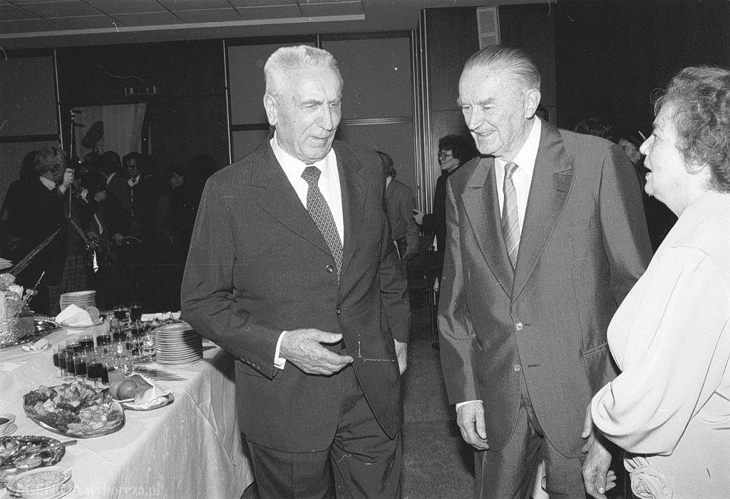 Edward Gierek, Piotr Jaroszewicz i Alicja Solska w grudniu 1990 roku w Warszawie