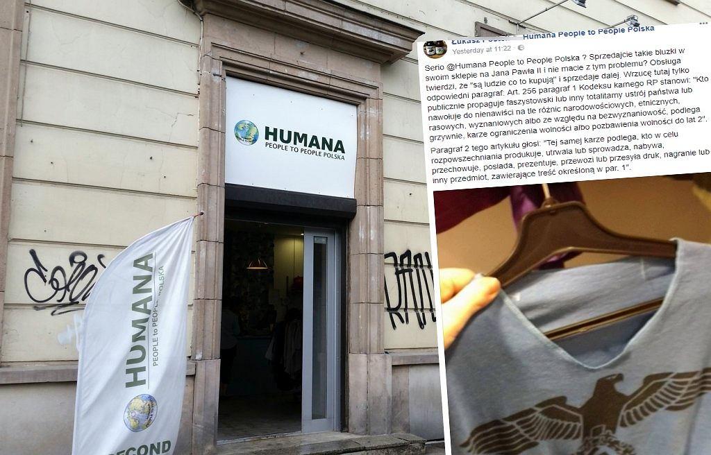 Swastyka na koszulce w sklepie w Warszawie