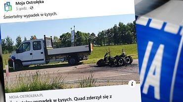 Zderzenie quada z ciężarówką