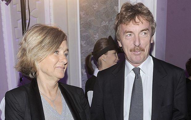 Zbigniew Boniek z żoną Wiesławą