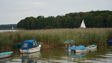 Jezioro Kisajno, okolice miejscowości Fuleda na Mazurach