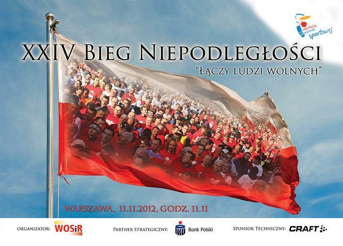 24. Bieg Niepodległości w Warszawie odbędzie się już 11 listopada o godzinie 11.11.