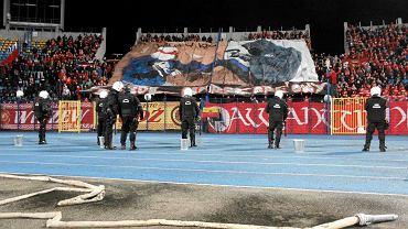 Policja na meczu Zawisza - Widzew