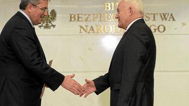 Bronisław Komorowski i Leszek Miller