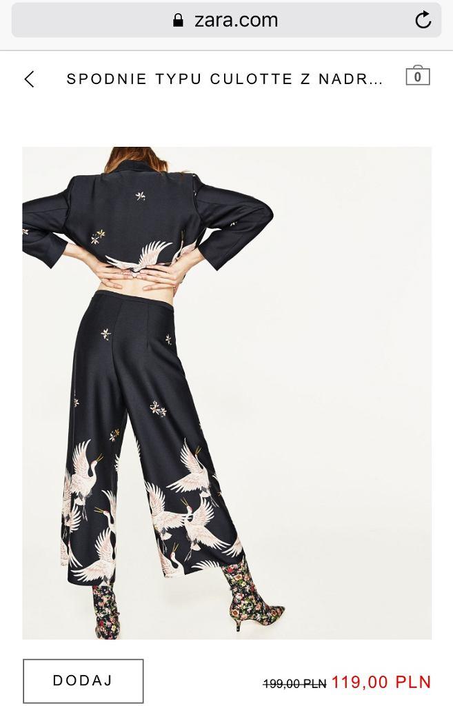 Tych spodni już na Zara.com nie znajdziecie...