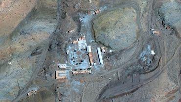 Obszar w pobliżu miasta Abadeh w Iranie,  gdzie wg Izraela Iran przeprowadzał eksperymenty w celu opracowania broni nuklearnej.
