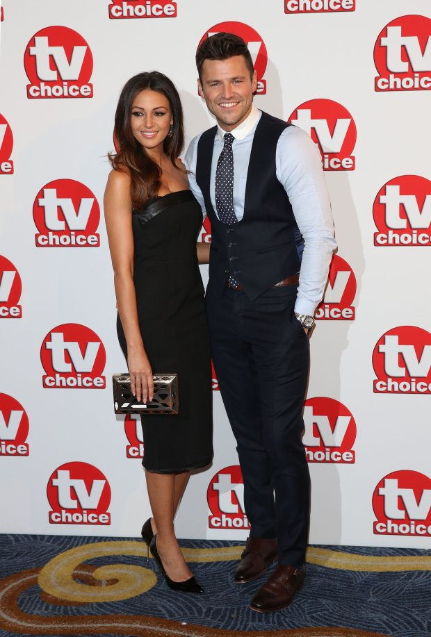 Michelle Keegan, Mark Wright at the TV Choice Awards 2014 held at the Park Lane Hilton, London. 08/09/2014 Picture by: James Smith / Featureflash