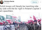 Na marszu miały powiewać tylko polskie flagi. Nacjonaliści i tak przynieśli swoje z falangami