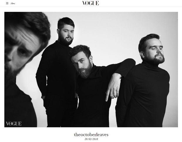 Screen ze strony włoskiego Vogue'a