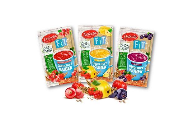 Owocowy kubek FIT Delecta - pierwszy, lekki kisiel z superfoods