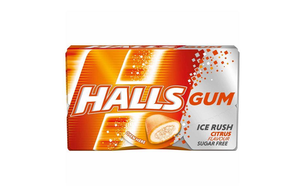 Gumy Halls Citrus, opakowanie 18 g, Sugerowana cena: 2,69 zł