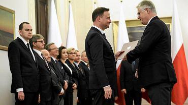 Prezydent Andrzej Duda oraz Jerzy Milewski