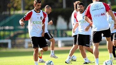 Isidoro 'Isi' Torres (pierwszy z lewej) na treningu Polonii