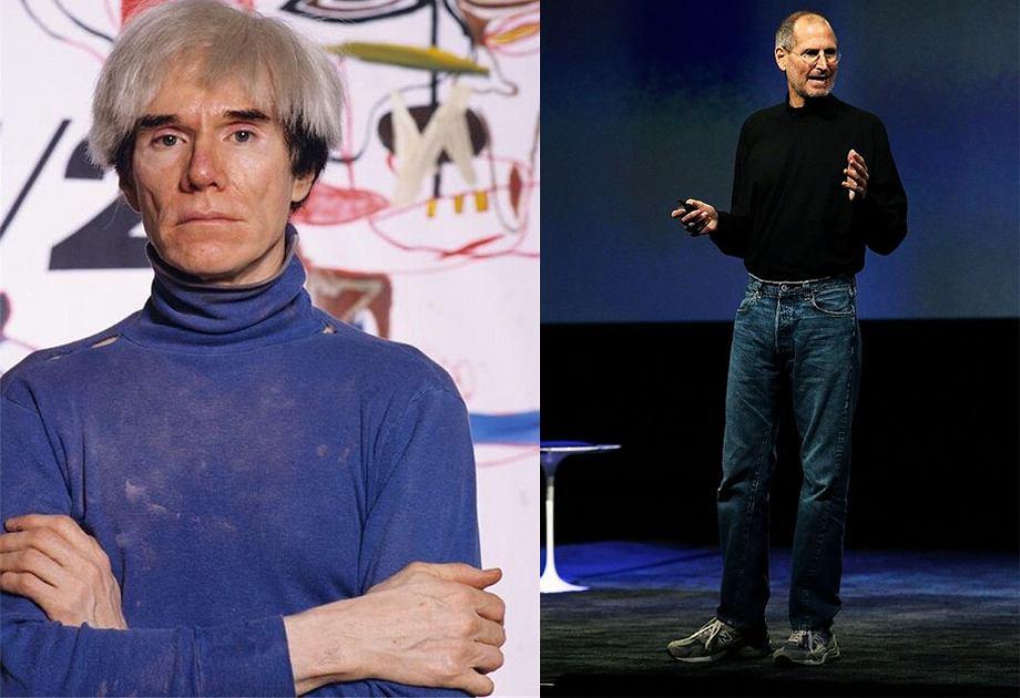 Czarny golf stał się nieodłączną częścią wizerunku Steve'a Jobsa, który był w nim niezwykle konsekwentny. Andy Warhol na swoich najsłynniejszych zdjęciach również ubrany jest w golf