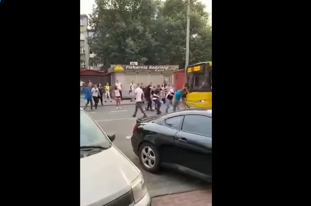 Zrzut ekranu z nagrania zdarzenia w Katowicach