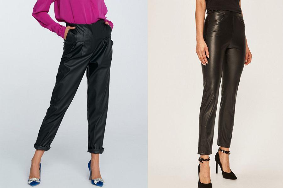 Czarne skórzane spodnie