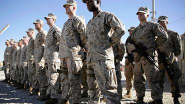 15.01.2018, amerykańscy marines w obozie Shorab, prowincja Helmand w Afganistanie.