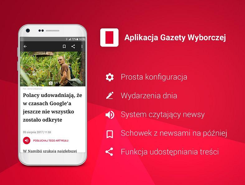 Nowa aplikacja 'Gazety Wyborczej' na telefony z systemem Android