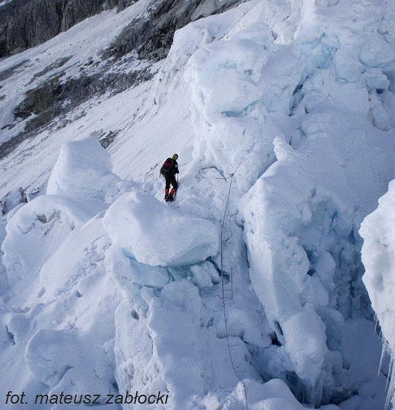Agnieszka Bielecka na Ice Fallu