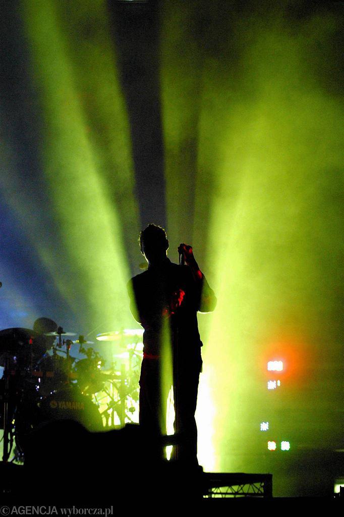 3 lipca 2004 - Open'er na Skwerze Kościuszki w Gdyni. Koncert Massive Attack / MASSIVE ATTACK Na FESTIVALU OPEN'ER/Fot. Dominik Sadowski / Agencja Gazeta