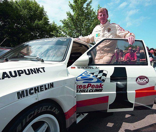 Walter Röhrl zwyciężył specjalnie przygotowanym Audi wyścig Pikes Peak International Hill Climb.