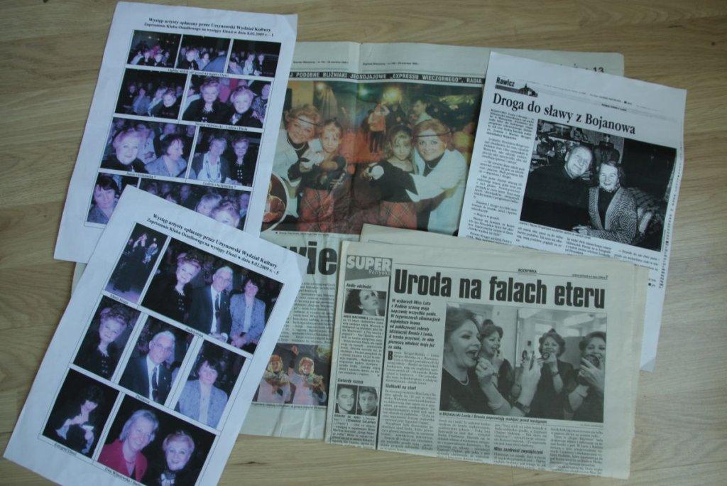 Artykuły prasowe o bliźniaczkach