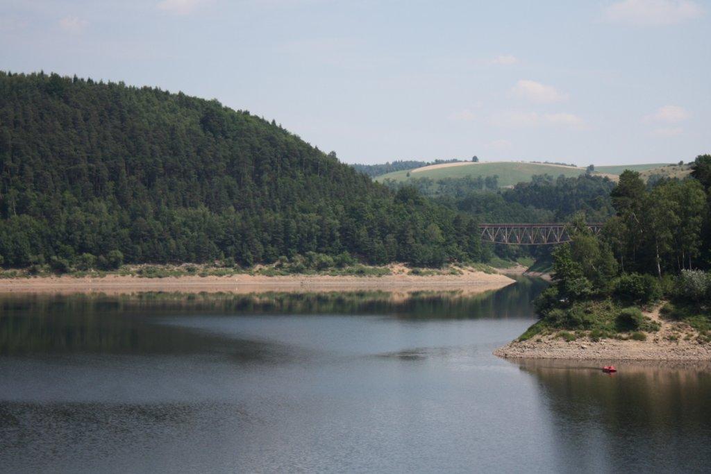 Jezioro Pilchowickie widziane z zapory